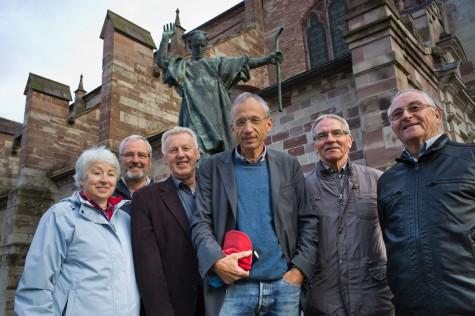 Die Gallus-Weitwanderer (v.l.n.r.): Françoise u. Wolfgang Sieber, Reinhard Frei, Daniel de Roulet, Beni Bruggmann, Hanspeter Hüppi (Foto: Marcel Steiner).