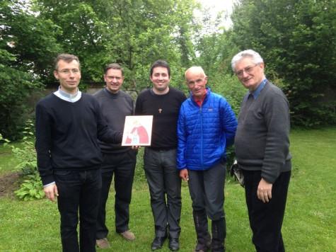 Avec les prêtres et le diacre de la nouvelle paroisse St Colomban.